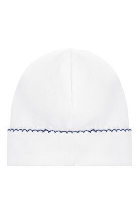 Хлопковая шапка Kissy Kissy белого цвета   Фото №1