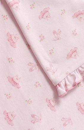 Хлопковое одеяло Kissy Kissy розового цвета   Фото №1
