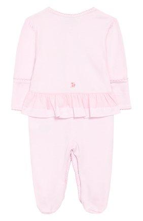 Хлопковый комбинезон Kissy Kissy розового цвета   Фото №1