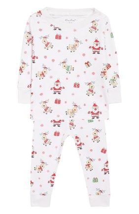 Хлопковая пижама Kissy Kissy разноцветного цвета   Фото №1