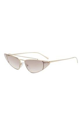 Женские солнцезащитные очки PRADA золотого цвета, арт. 63US-ZVN400   Фото 1