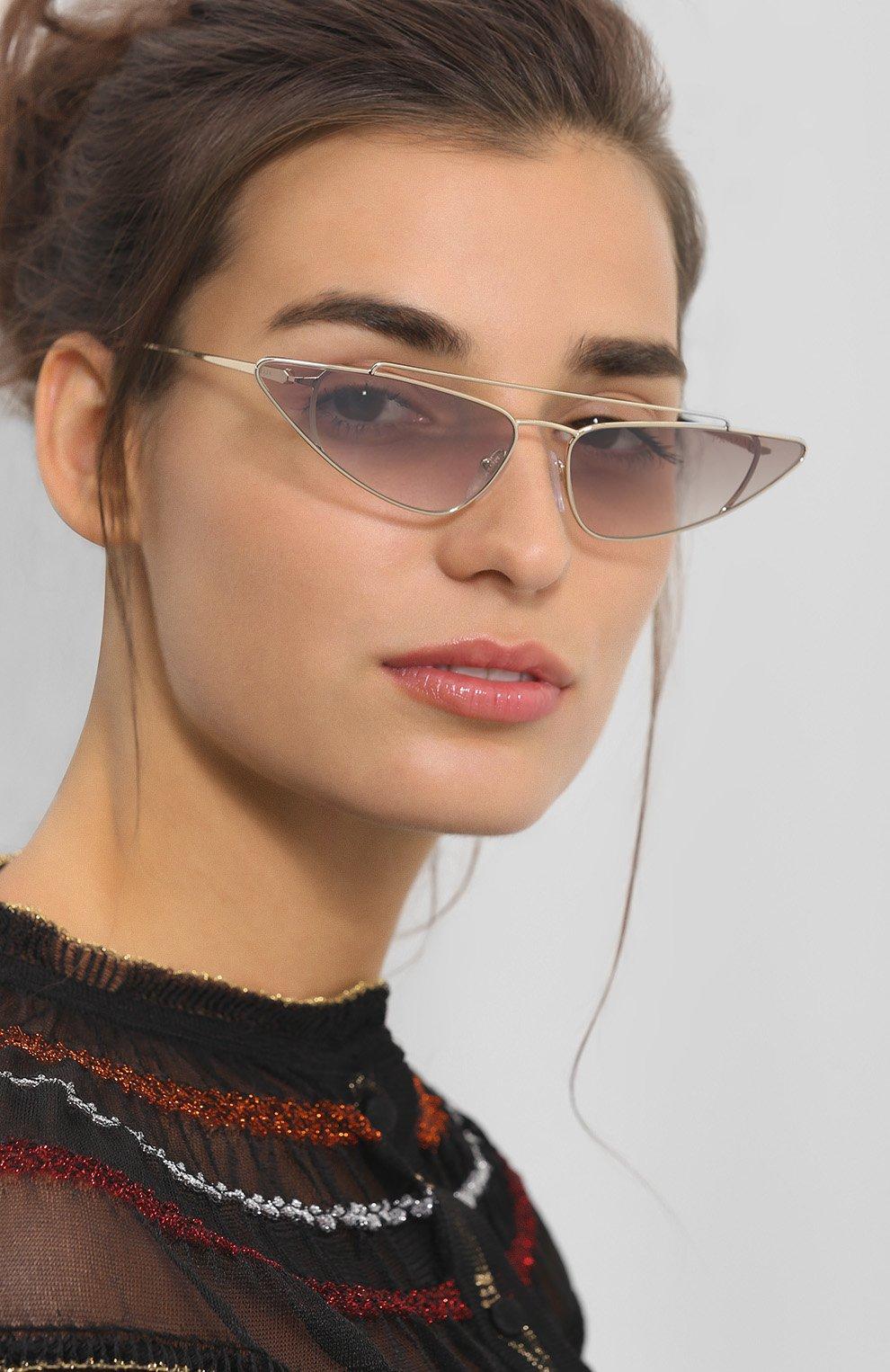 Женские солнцезащитные очки PRADA золотого цвета, арт. 63US-ZVN400   Фото 2