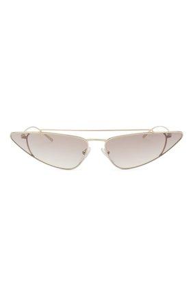 Женские солнцезащитные очки PRADA золотого цвета, арт. 63US-ZVN400   Фото 3