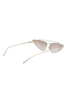 Женские солнцезащитные очки PRADA золотого цвета, арт. 63US-ZVN400   Фото 4