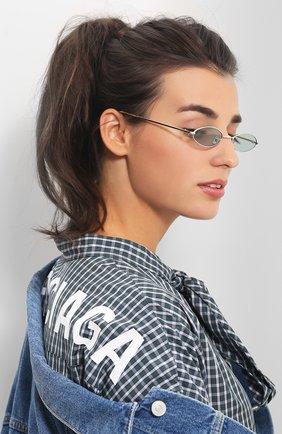 Женские солнцезащитные очки SPEKTRE серебряного цвета, арт. XYZ 02A | Фото 2 (Статус проверки: Проверена категория, Проверено; Тип очков: С/з; Очки форма: Овальные, Узкие; Оптика Гендер: оптика-женское)