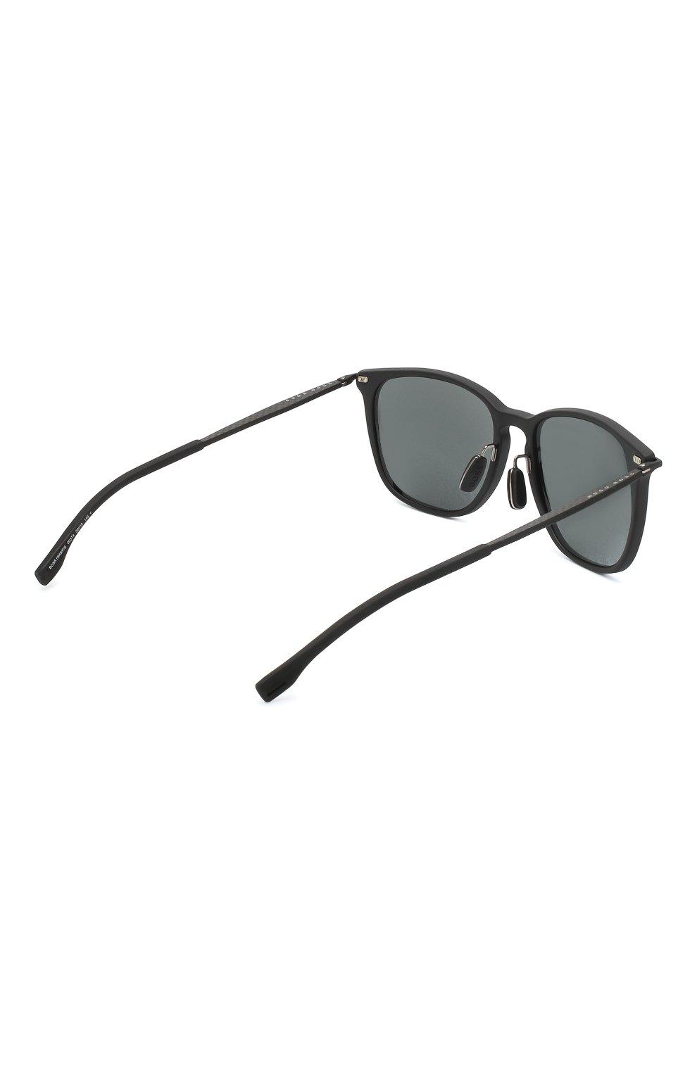 Мужские солнцезащитные очки BOSS черного цвета, арт. 0949/F 003   Фото 3