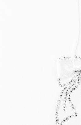 Детские колготки с декором LA PERLA белого цвета, арт. 47116/4-6 | Фото 2