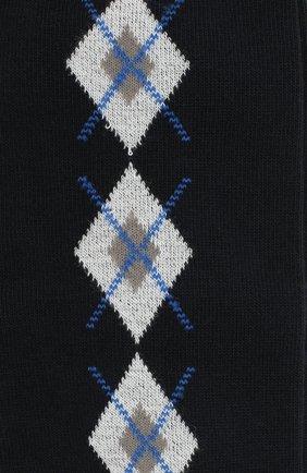 Детские хлопковые гольфы LA PERLA темно-синего цвета, арт. 47174H/7-8 | Фото 2