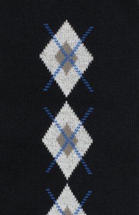 Детские хлопковые гольфы LA PERLA темно-синего цвета, арт. 47174H/9-12 | Фото 2