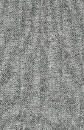Детские хлопковые гольфы с отделкой LA PERLA серого цвета, арт. 48466/3-6 | Фото 2