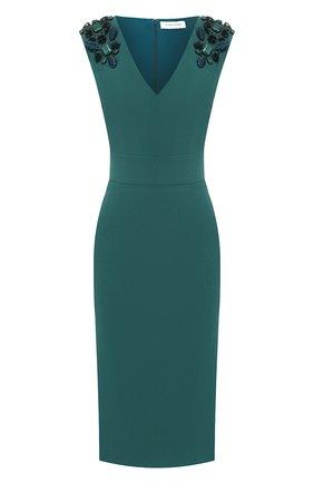 Шерстяное платье с V-образным вырезом | Фото №1