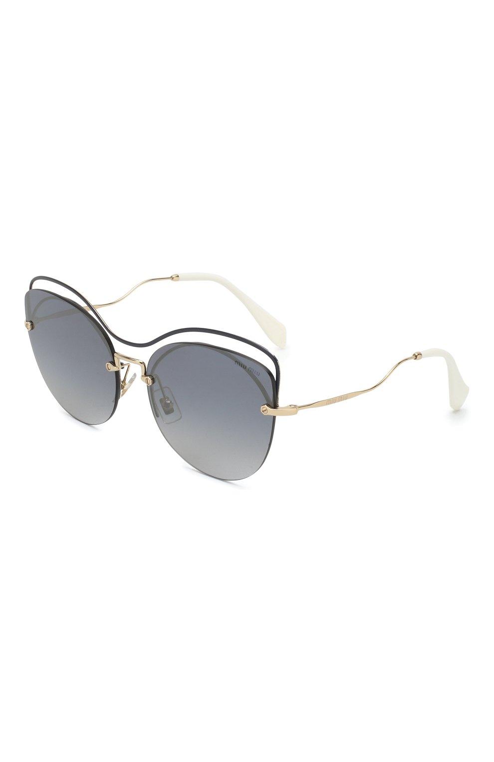 Женские солнцезащитные очки MIU MIU черного цвета, арт. 50TS-UE63A0 | Фото 1