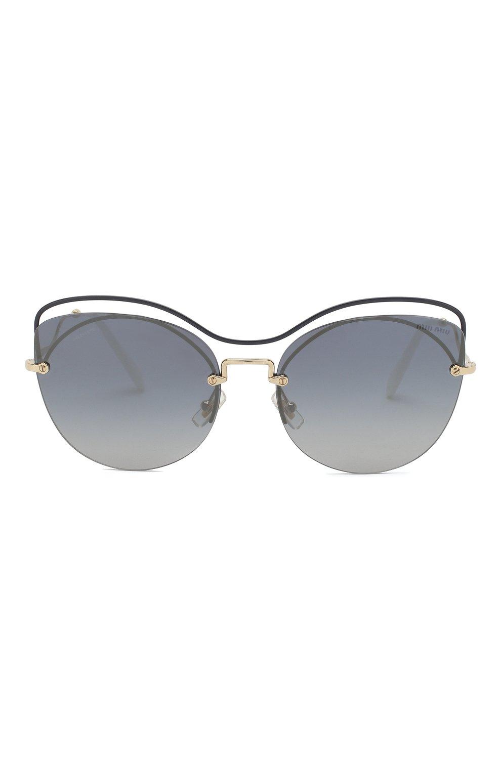 Женские солнцезащитные очки MIU MIU черного цвета, арт. 50TS-UE63A0 | Фото 3