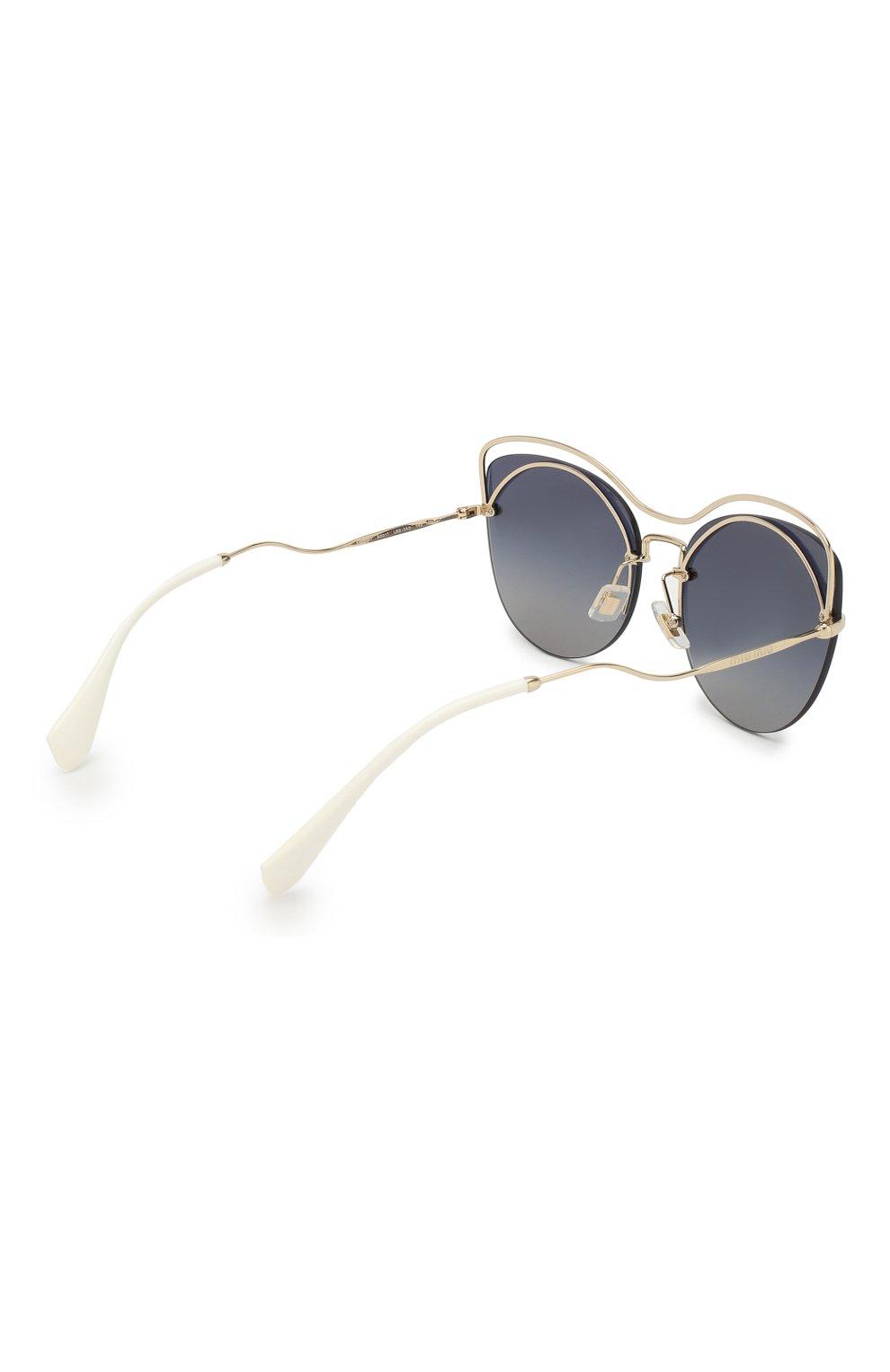 Женские солнцезащитные очки MIU MIU черного цвета, арт. 50TS-UE63A0 | Фото 4