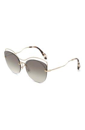 Женские солнцезащитные очки MIU MIU темно-серого цвета, арт. 50TS-ZVN500 | Фото 1