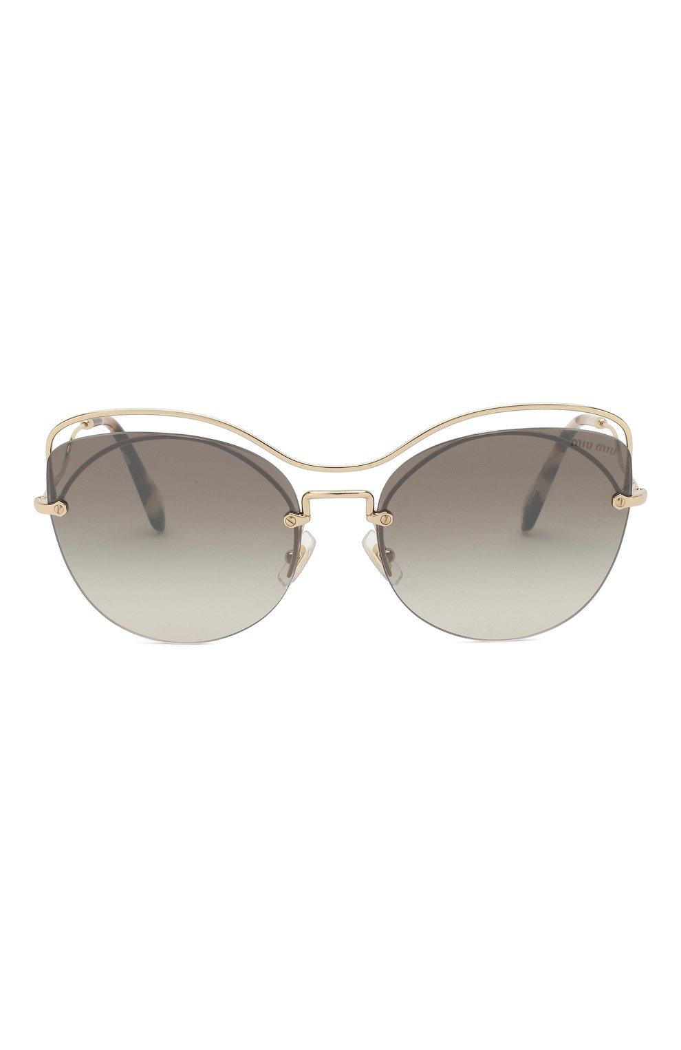 Женские солнцезащитные очки MIU MIU темно-серого цвета, арт. 50TS-ZVN500 | Фото 3