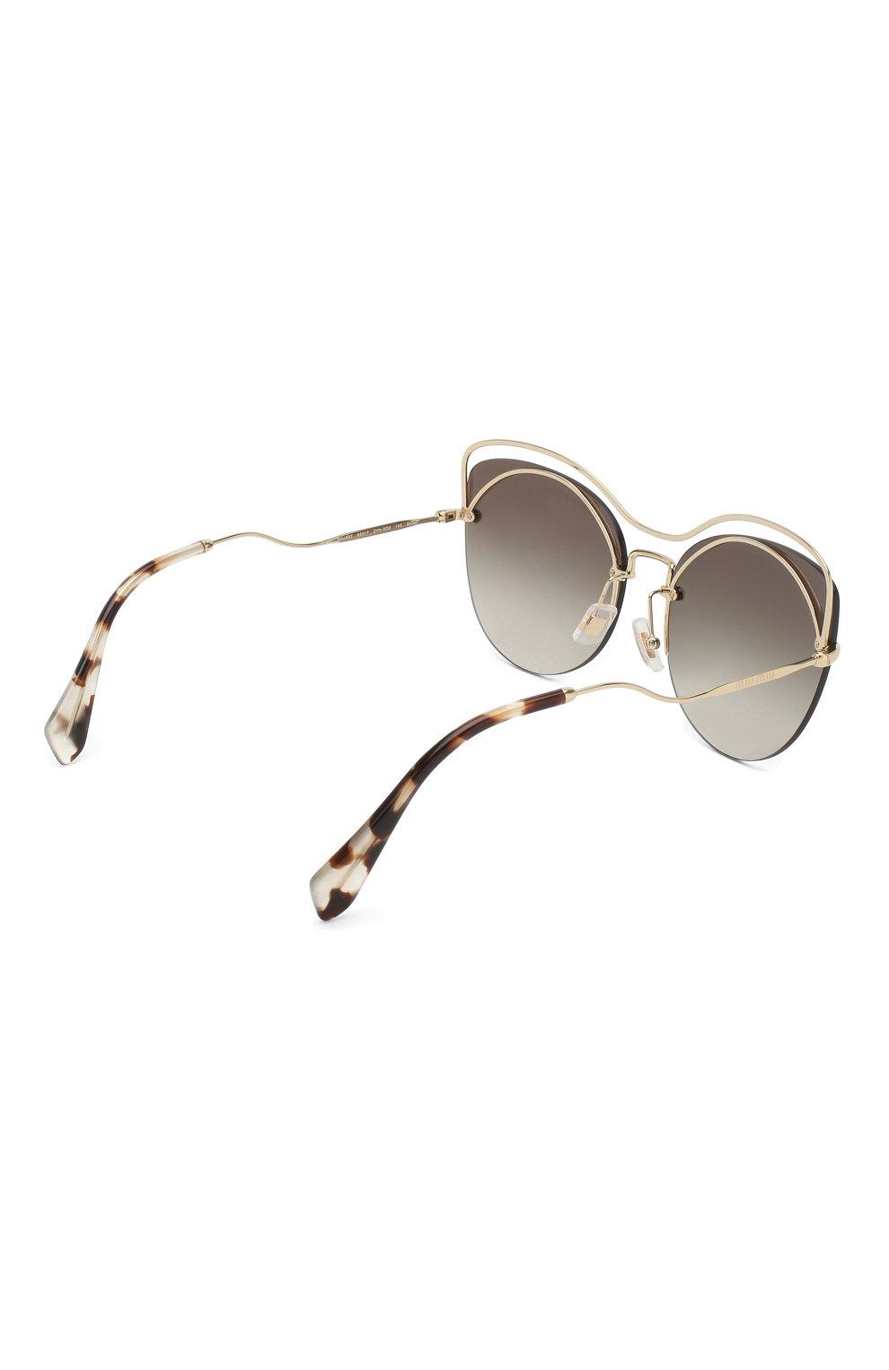 Женские солнцезащитные очки MIU MIU темно-серого цвета, арт. 50TS-ZVN500 | Фото 4