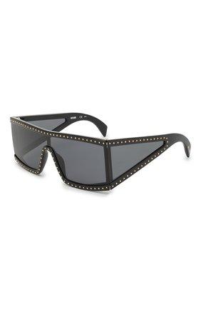 Мужские солнцезащитные очки MOSCHINO черного цвета, арт. M0S004 08A | Фото 1