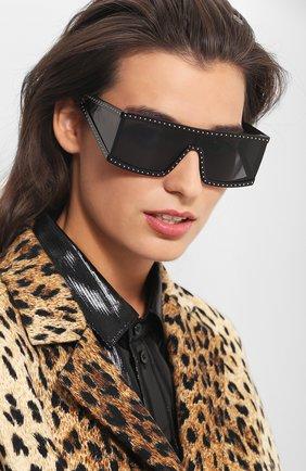 Солнцезащитные очки Moschino черные | Фото №1
