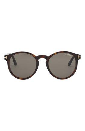 Мужские солнцезащитные очки TOM FORD коричневого цвета, арт. TF591 52N | Фото 2