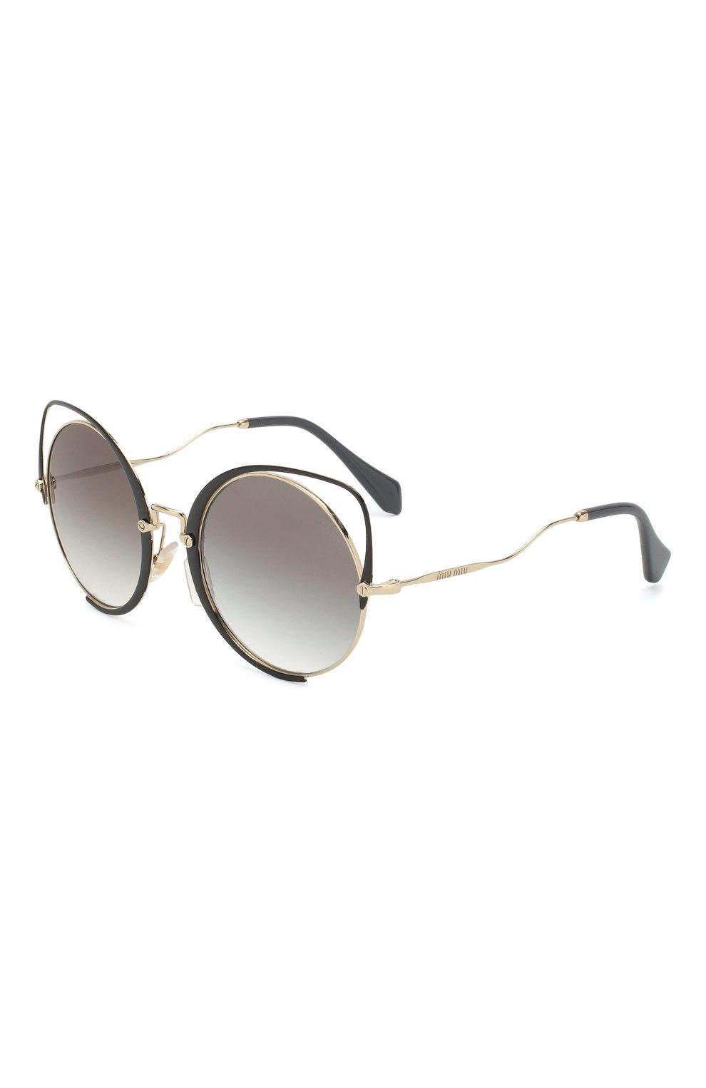 Женские солнцезащитные очки MIU MIU черного цвета, арт. 51TS-1AB0A7 | Фото 1