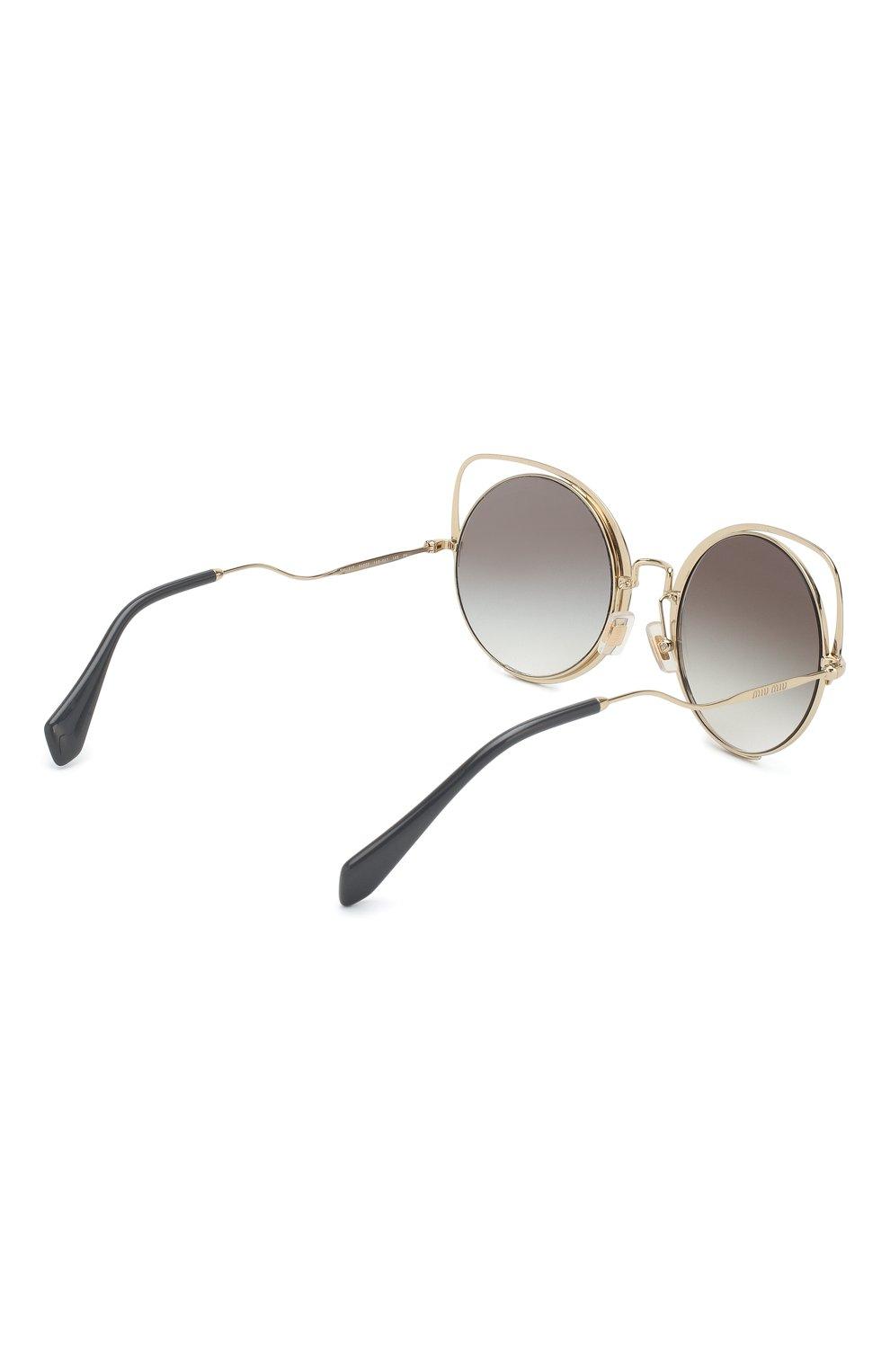 Женские солнцезащитные очки MIU MIU черного цвета, арт. 51TS-1AB0A7 | Фото 4