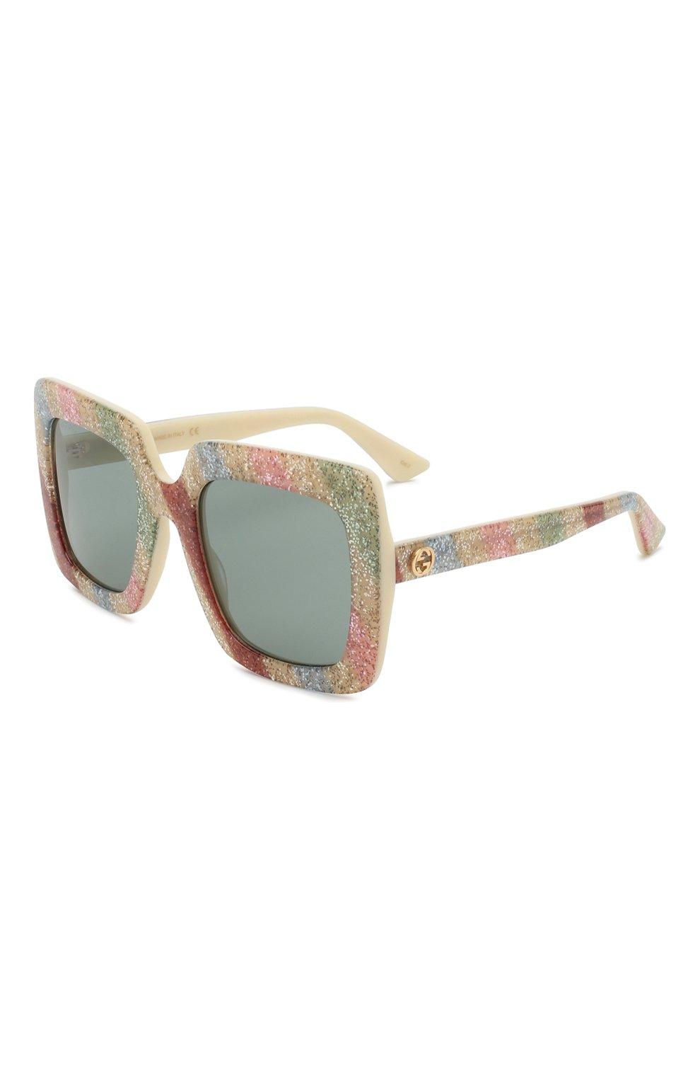 Женские солнцезащитные очки GUCCI разноцветного цвета, арт. GG0328 004 | Фото 1