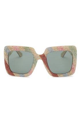 Женские солнцезащитные очки GUCCI разноцветного цвета, арт. GG0328 004 | Фото 3