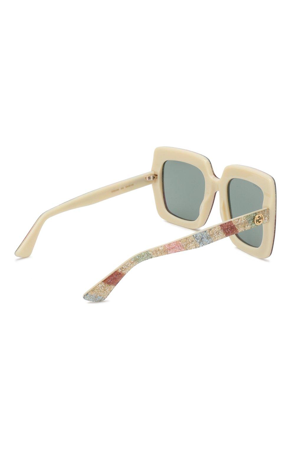 Женские солнцезащитные очки GUCCI разноцветного цвета, арт. GG0328 004 | Фото 4