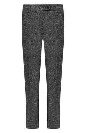 Укороченные брюки из смеси шелка и шерсти с кашемиром | Фото №1