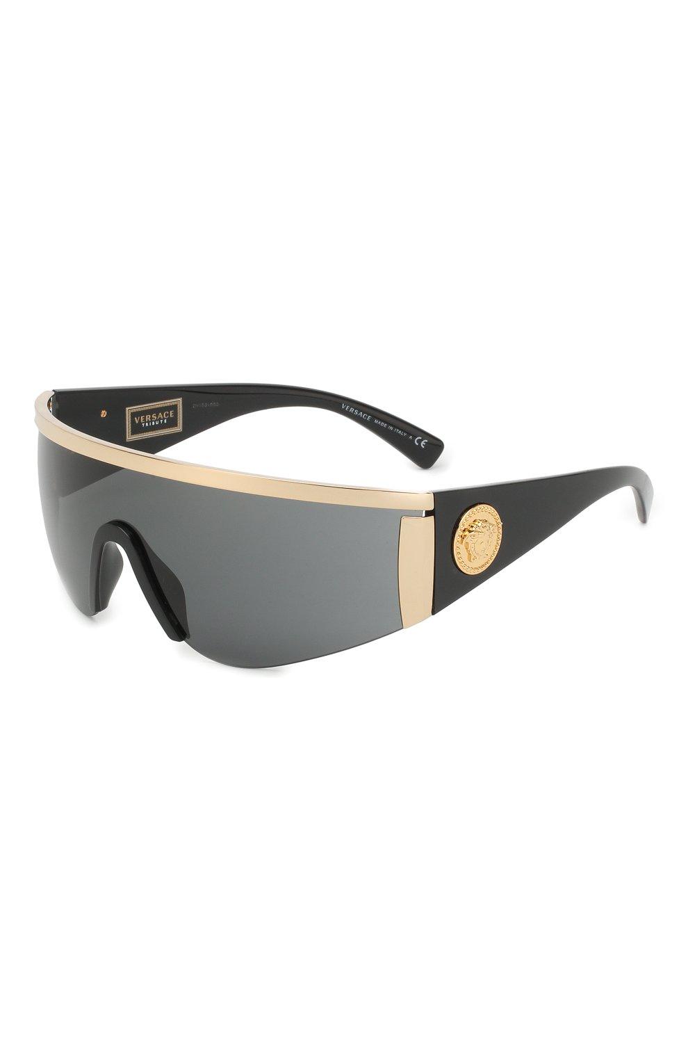 Женские солнцезащитные очки VERSACE черного цвета, арт. 2197-100087 | Фото 1