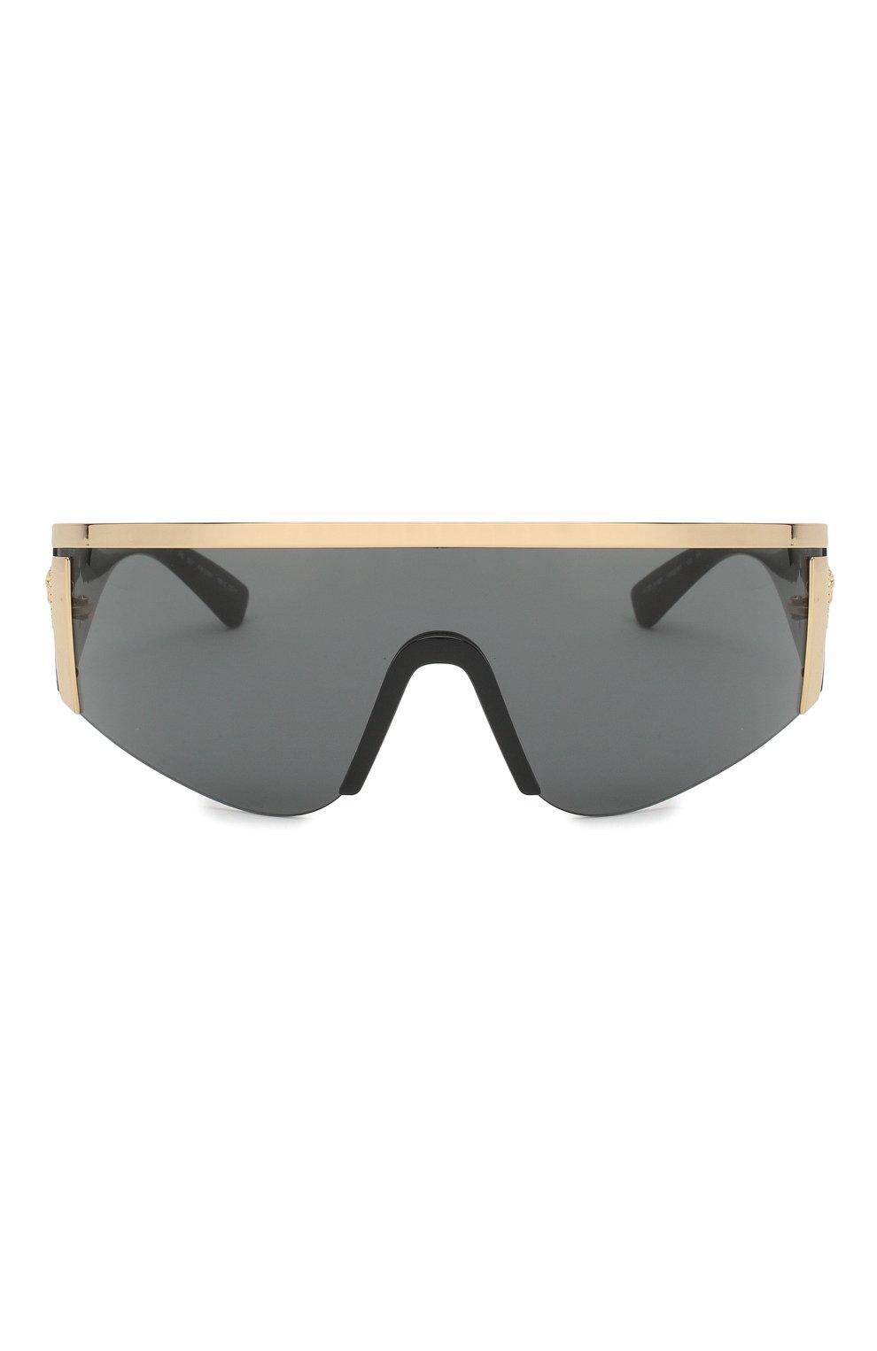 Женские солнцезащитные очки VERSACE черного цвета, арт. 2197-100087 | Фото 3