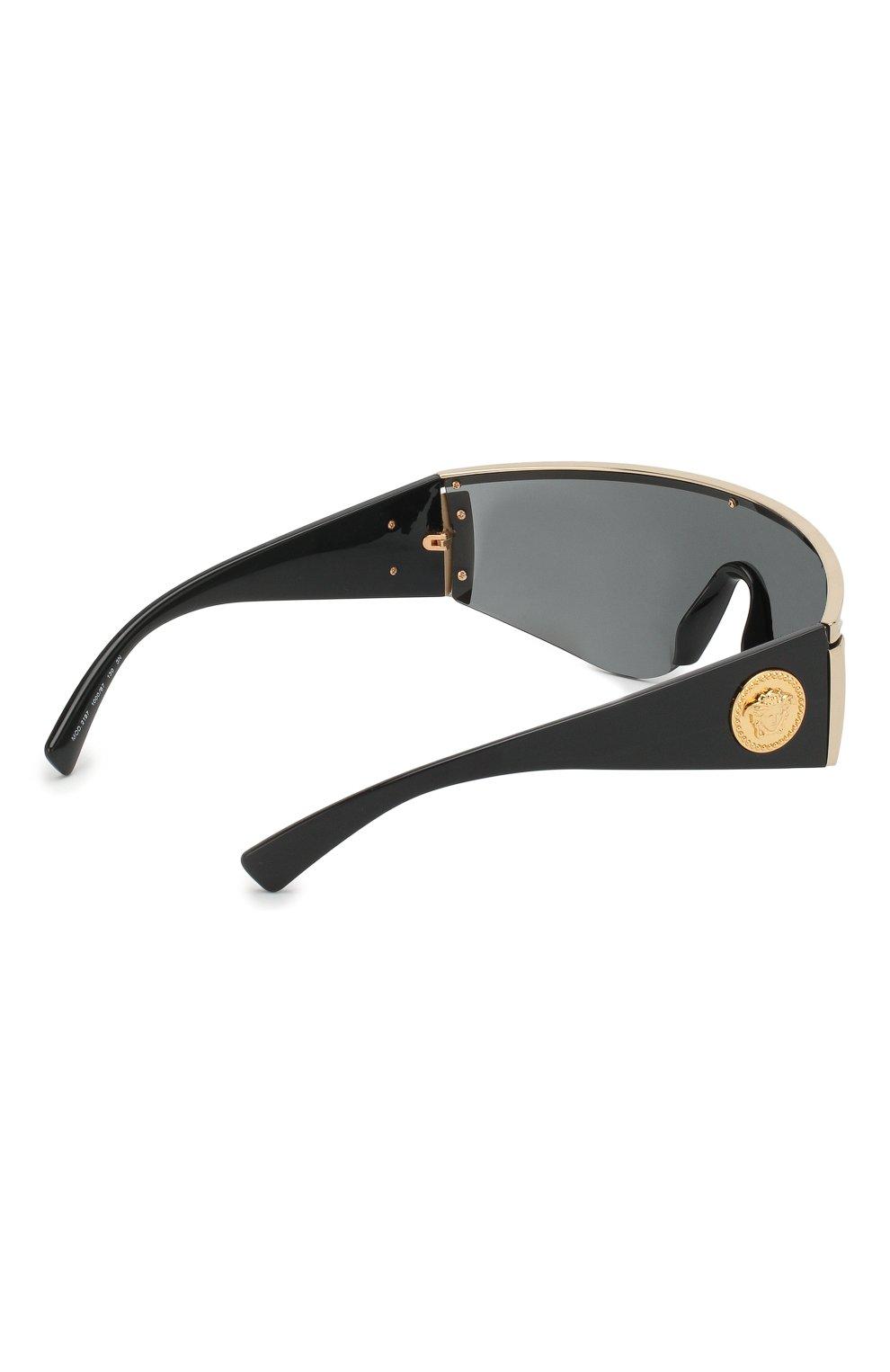 Женские солнцезащитные очки VERSACE черного цвета, арт. 2197-100087 | Фото 4