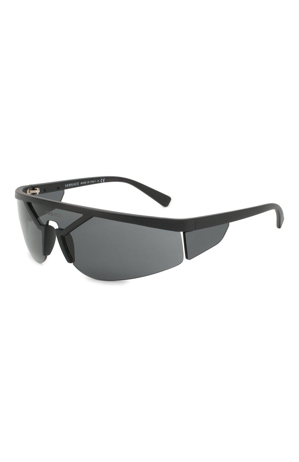 Женские солнцезащитные очки VERSACE черного цвета, арт. 4349-507987 | Фото 1