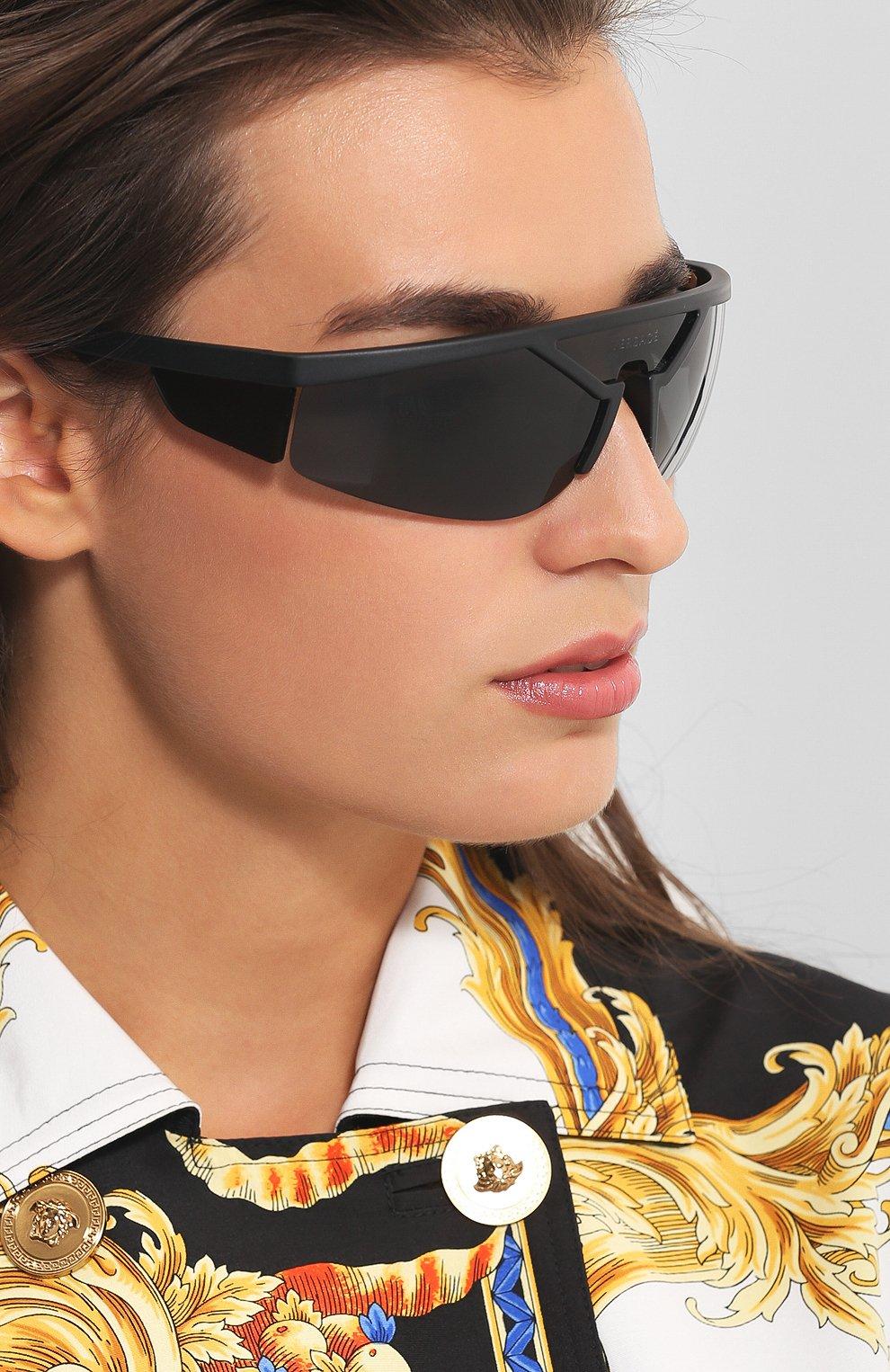 Женские солнцезащитные очки VERSACE черного цвета, арт. 4349-507987 | Фото 2
