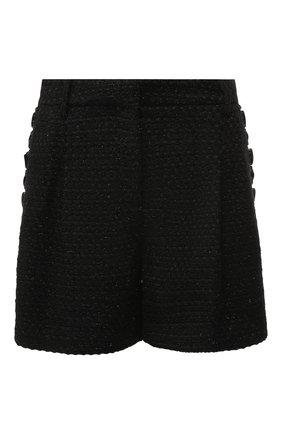 Вязаные шорты с декоративной отделкой Zuhair Murad черные | Фото №1