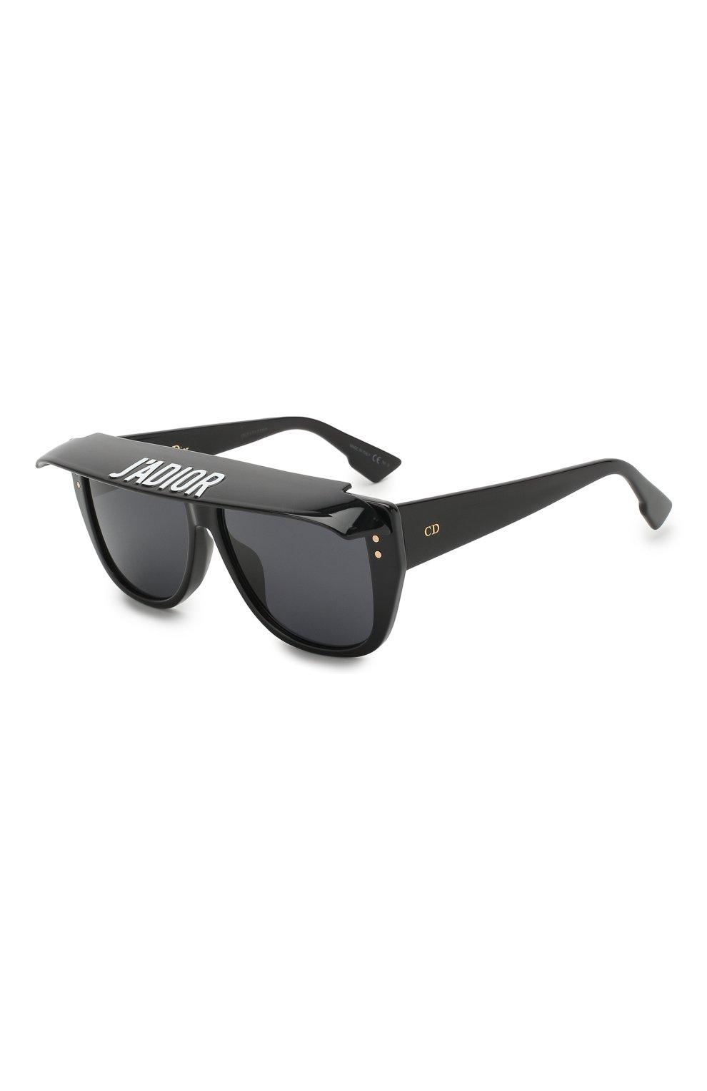 Женские солнцезащитные очки DIOR черного цвета, арт. DI0RCLUB2 807 | Фото 1