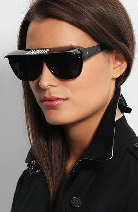 Женские солнцезащитные очки DIOR черного цвета, арт. DI0RCLUB2 807 | Фото 2