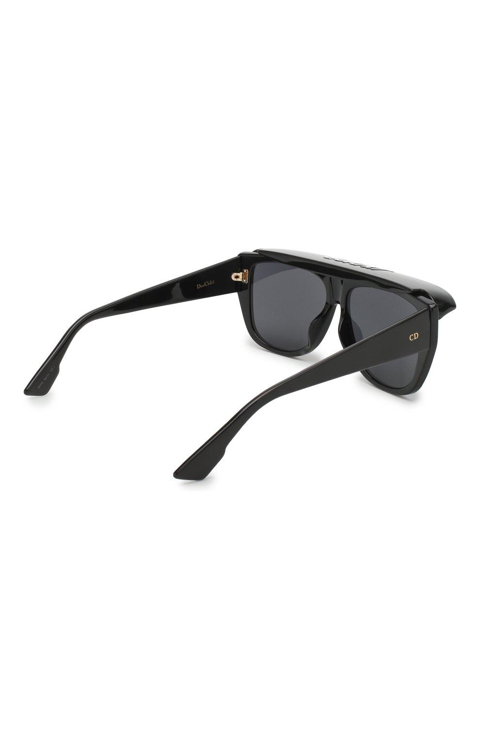 Женские солнцезащитные очки DIOR черного цвета, арт. DI0RCLUB2 807 | Фото 4