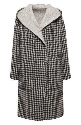 Шерстяное пальто с капюшоном | Фото №1