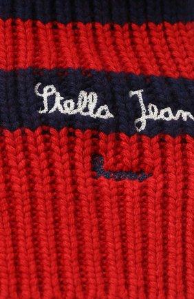 Детский шарф фактурной вязки Stella Jean Kids красного цвета | Фото №1