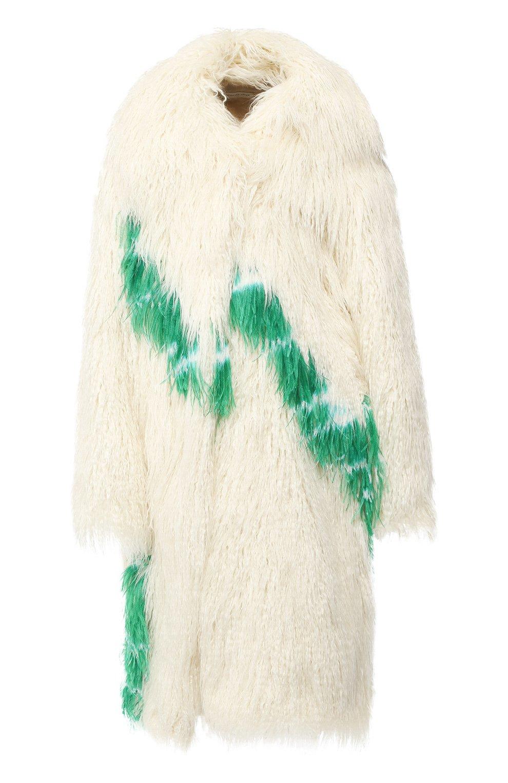 Пальто из эко-меха | Фото №1