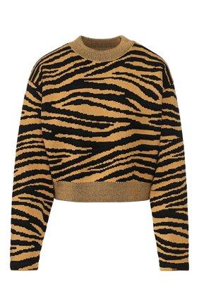 Пуловер из смеси шерсти и вискозы с принтом Proenza Schouler желтый | Фото №1