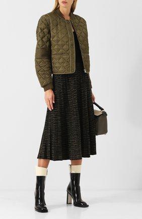 Платье-миди на тонких бретельках Proenza Schouler зеленое | Фото №1