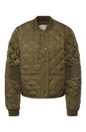 Стеганая куртка из вискозы | Фото №1