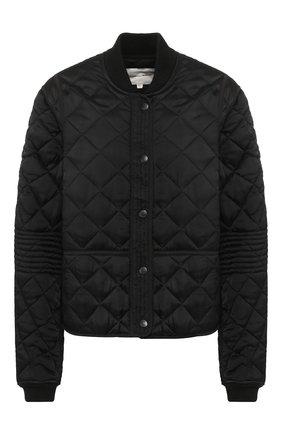 Стеганая куртка из вискозы Proenza Schouler черная | Фото №1