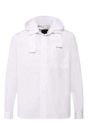 Хлопковая рубашка с капюшоном | Фото №1