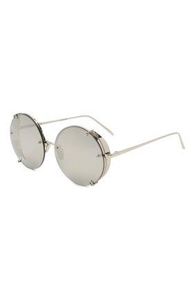 Женские солнцезащитные очки LINDA FARROW серебряного цвета, арт. LFL728C2 SUN | Фото 1