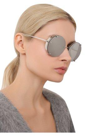 Женские солнцезащитные очки LINDA FARROW серебряного цвета, арт. LFL728C2 SUN | Фото 2
