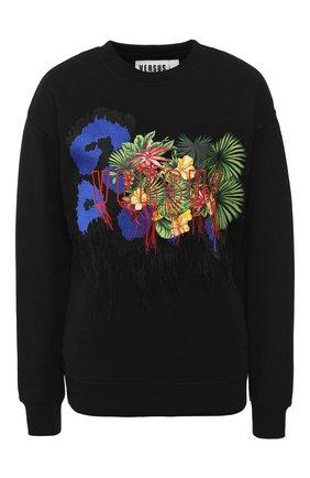 Хлопковый пуловер с принтом Versus Versace разноцветный   Фото №1